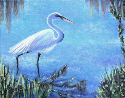 Painting - Graceful Stroll At Magnolia Gardens by Pamela Poole