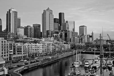 Seattle Waterfront Photograph - Gracefully Urban by Mike Reid