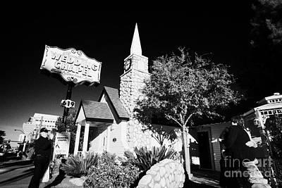 Las Vegas Wedding Photograph - graceland wedding chapel on the downtown strip Las Vegas Nevada USA by Joe Fox