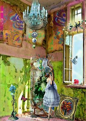 Room Digital Art - Grace's Window by Laura Botsford