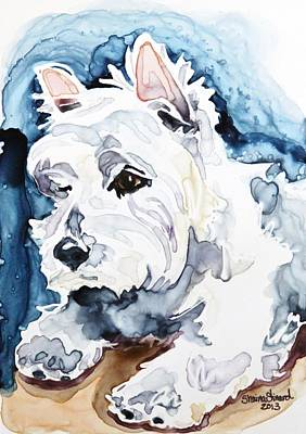 Watercolor Pet Portraits Wall Art - Painting - Gracie by Shaina Stinard