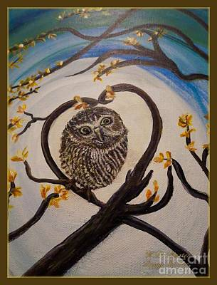 Nature Center Painting - Graciela Finds Her Heartsong Closeup II by Kimberlee Baxter