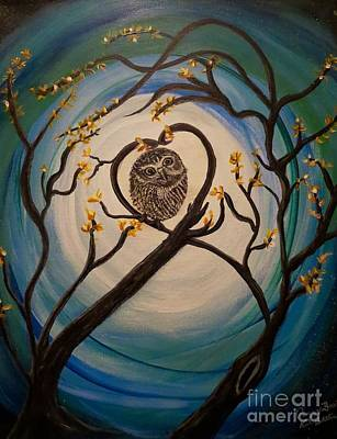 Nature Center Painting - Graciela Finds Her Heartsong by Kimberlee Baxter