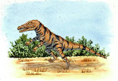 Gracilisuchus Prehistoric Crocodile Art Print by Deagostini/uig