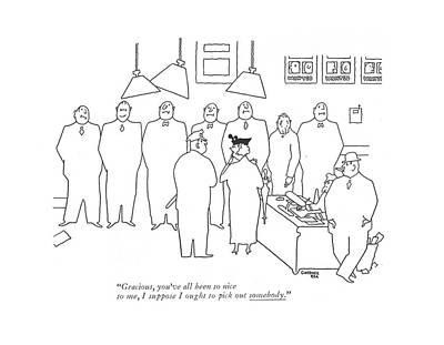 Action Lines Drawing - Gracious, You've All Been So Nice by Gardner Rea
