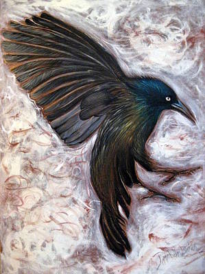 Painting - Grackle by Jan VonBokel