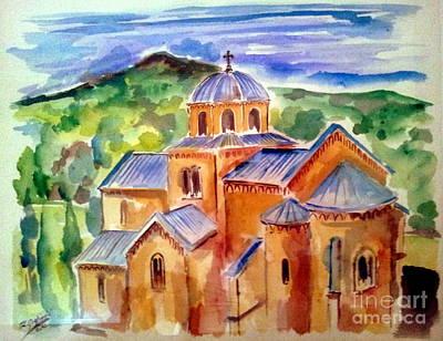 Serbian Painting - Gradac Monastery by Roberto Gagliardi