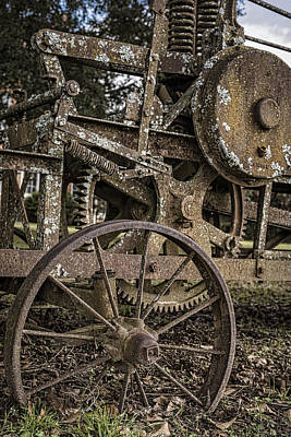 Photograph - Grader Gears by Andy Crawford