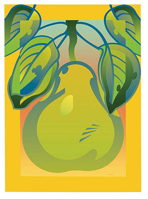 Gradient Pear Art Print