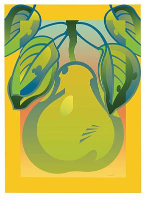 Gradient Pear Art Print