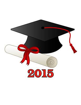 Diploma Drawing - Graduate 2015 by Bern Hopkins