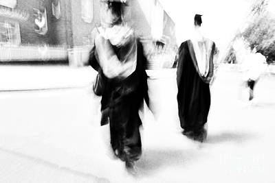 Graduation Abstract In Black And White Print by Natalie Kinnear