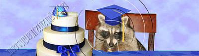 Diploma Digital Art - Graduation Raccoon # 535 by Jeanette K