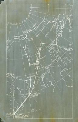 Rigid Photograph - Graf Zeppelin Polar Flight Chart by Us Coast Guard