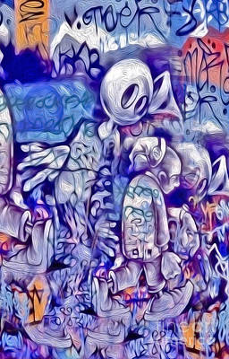Digital Art - Graffiti - 001 by Gregory Dyer