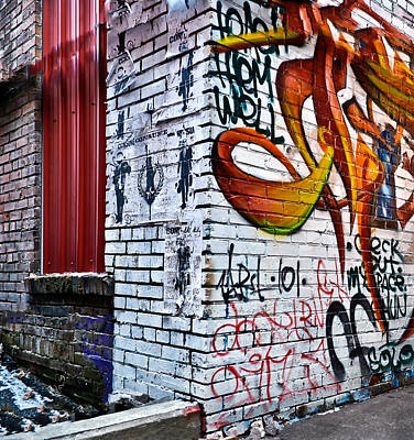 Graffiti Alley Art Print