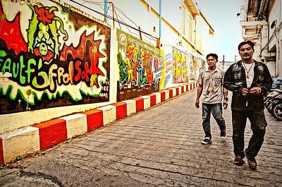 Photograph - Graffiti Alley  by Ian Gledhill