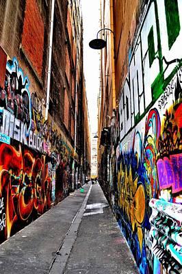 Graffiti Alley - Melbourne - Australia Art Print