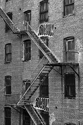 Photograph - Graffiti And Fire Escapes by Cornelis Verwaal