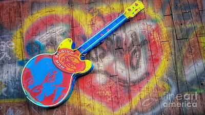 Photograph - Graffiti And Guitars by Peggy Franz