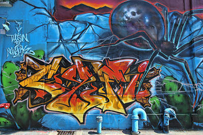 Photograph - 5 Pointz Graffiti Art 6 by Allen Beatty
