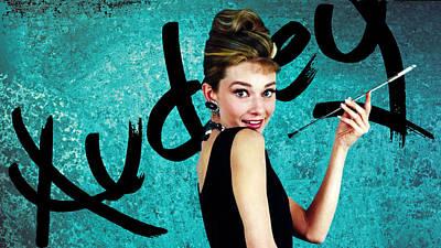 Audrey Photograph - Graffiti - Audrey's Elegance by Graffiti Girl
