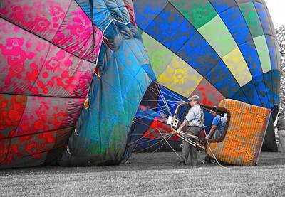 Hot Air Balloon Digital Art - Graffiti Balloons by Betsy Knapp