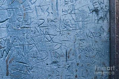 Photograph - Graffiti Blues by Liz  Alderdice