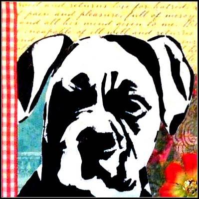 Boxer Dog Art Drawing - Graffiti Boxer by Ashley Reign