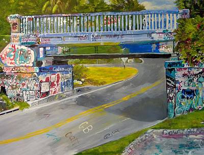 Graffiti Bridge Pensacola Original by Linda Stoughton