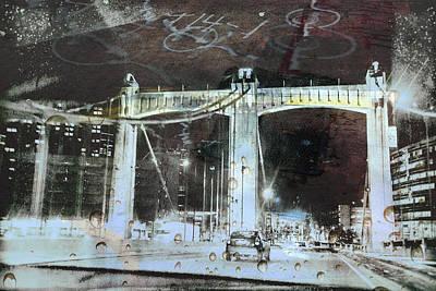 Digital Art - Graffiti Bridge by Susan Stone