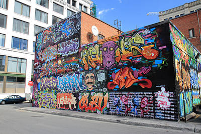 Photograph - Graffiti Building Montreal by Pierre Leclerc Photography