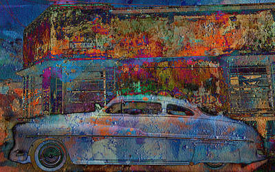 Digital Art - Graffiti Car by Greg Sharpe