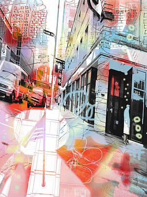 Digital Art - Graffiti City by Susan Stone