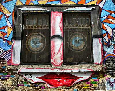 Photograph - Graffiti City Walls -  Happy Window by Daliana Pacuraru