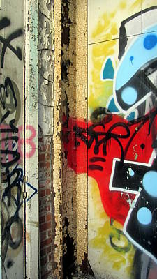Photograph - Graffiti Close Up W Red by Anita Burgermeister