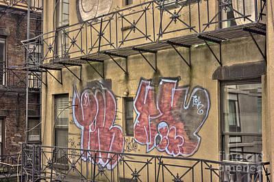 Graffiti Art Print by David Bearden