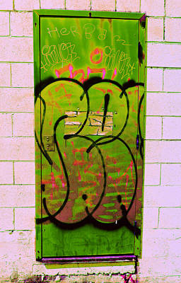 Photograph - Graffiti Door 2 by Laurie Tsemak