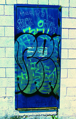 Photograph - Graffiti Door by Laurie Tsemak