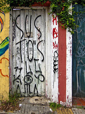 Photograph - Graffiti Doorway Sao Paulo by Julie Niemela