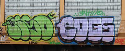 Railroad Photograph - Graffiti - Duo by Graffiti Girl