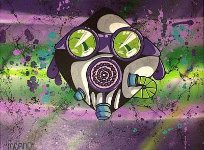 Graffiti Gas Mask Art Print by Max Meano