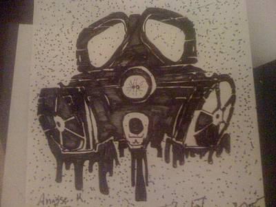 Graffiti Gass Mask Art Print