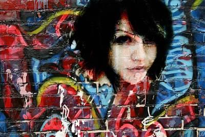 Curves Digital Art - Graffiti Girl by Gun Legler