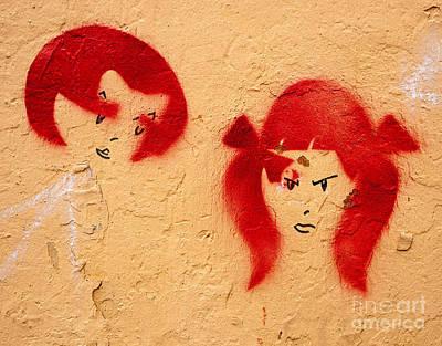 Photograph - Graffiti Girls 02 by Rick Piper Photography