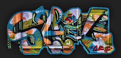 Dean Russo Photograph - Graffiti - Happy/sad by Graffiti Girl