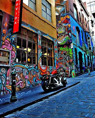 Photograph - Graffiti Harley Shoes - Melbourne - Australia by Jeremy Hall
