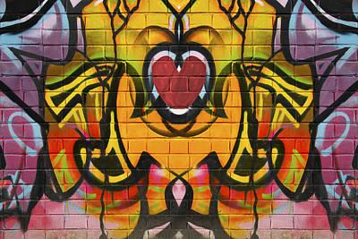 Digital Art - Graffiti Heart by Steve Ball