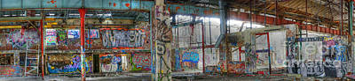Photograph - Graffiti Heaven Panorama by David Birchall