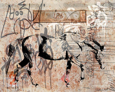 Judy Wood Digital Art - Graffiti Horse 2 by Judy Wood